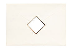 Paper envelope sealed by cut out stamp Stock Images