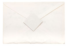 Paper envelope sealed by postage stamp Royalty Free Stock Image