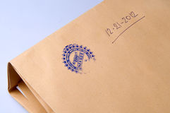 Paper envelope stamped Top Secret Stock Photo