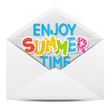 Paper envelope with summer Stock Photo