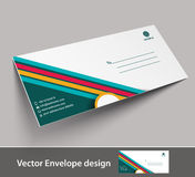 Paper envelope templates Royalty Free Stock Images