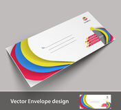 Paper envelope templates Royalty Free Stock Photography