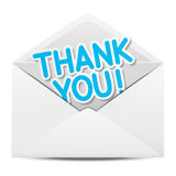 Paper envelope with Thanks. Message royalty free illustration