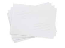 Paper envelope on white Royalty Free Stock Photography