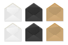 Paper envelopes with sheets. Stock Image