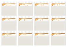 Paper_eps déchiré par calendrier mensuel illustration de vecteur