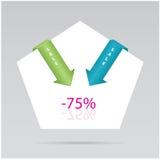 paper etiketter vektor illustrationer
