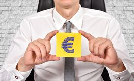 Paper with euro symbol Royalty Free Stock Images