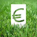 Paper with euro Royalty Free Stock Photo