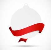 Paper evening ball with red ribbon Royalty Free Stock Images