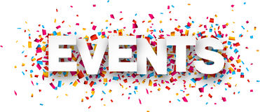 Paper Events Confetti Sign Stock Photos