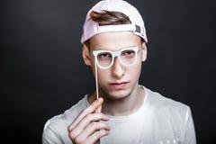 Paper eye glasses stock image