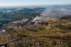 Paper fabriksluftfoto Arkivbilder