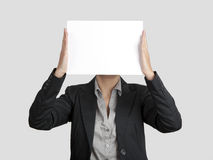 Paper face Royalty Free Stock Images