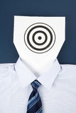 Paper Face and Business Target Stock Photos