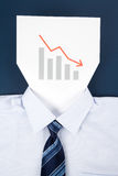 Paper Face and Chart Royalty Free Stock Image