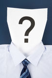 Paper Face and Question Mark Stock Photos