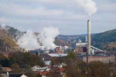 Paper factory 1. The image is from a paper factory in the Halden municipality. Nowegian Forest Saugbrugs is a Norwegian paper factory in Halden and is today an Stock Photos