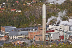 Paper factory 2. The image is from a paper factory in the Halden municipality. Nowegian Forest Saugbrugs is a Norwegian paper factory in Halden and is today an Stock Images