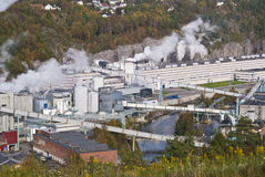 Paper factory 3. The image is from a paper factory in the Halden municipality. Nowegian Forest Saugbrugs is a Norwegian paper factory in Halden and is today an Stock Photography