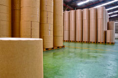 Paper factory, storage Stock Image