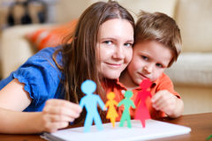 Paper family Stock Images