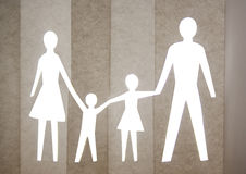Paper family Stock Photography
