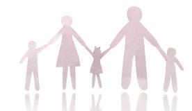 Paper family Royalty Free Stock Photography