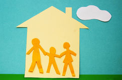 Paper family Royalty Free Stock Image