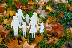 Paper family autumn Stock Image