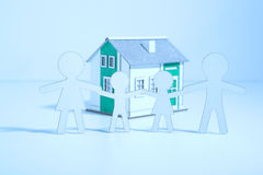 Paper family buys a home Stock Photography
