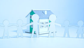 Paper family buys a home Stock Image
