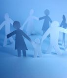 Paper family concept Stock Photography