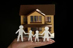 Paper family and house Stock Photo
