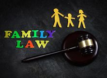 Family Law of three Stock Image