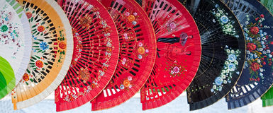 Paper fans Stock Photo