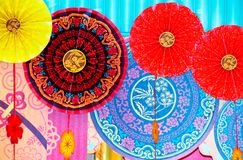 Paper fans Royalty Free Stock Images