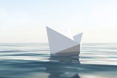 Paper fartyg Royaltyfria Bilder