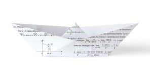 Paper fartyg för Math Royaltyfria Bilder