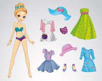 Paper Fashion Casual Doll Stock Images
