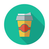 Paper fast food cup. Royalty Free Stock Photo