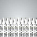Paper fence with teeths Stock Images