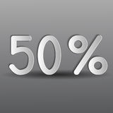 Paper fifty percent Stock Images