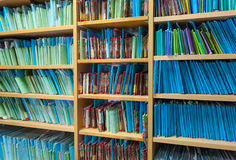 Paper files in the clinic Royalty Free Stock Photography