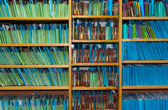 Paper files in the clinic Royalty Free Stock Photo