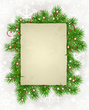 Paper with fir branches Stock Photography