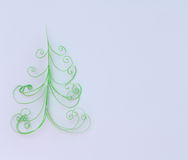 Paper fir tree Stock Photo