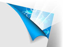 Paper with flex corner Royalty Free Stock Photography