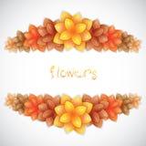 Paper floral frame Stock Photos