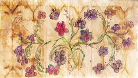 Paper with floral pattern Royalty Free Stock Images